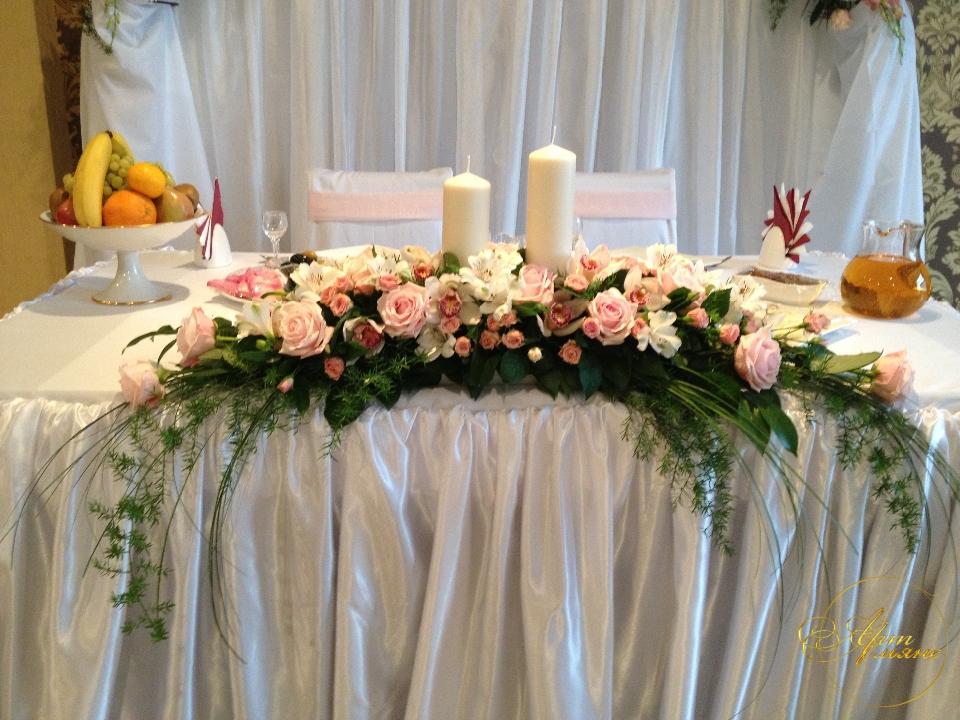 Фото цветы на стол свадьба